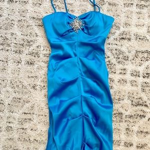 Faviana special occasion dress royal blue custom